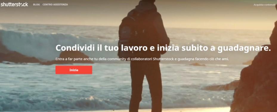 Iscrizione come contributor su Shutterstock, step 1