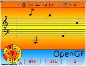 Una schermata del programma educativo OpenGF