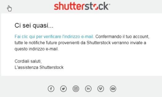 Iscrizione come contributor su Shutterstock, step 4