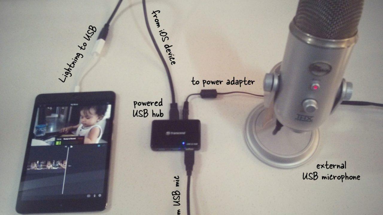 Collegare il microfono esterno alliPhone