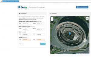 convertitore coordinate geografiche online