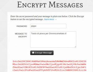Criptare un testo