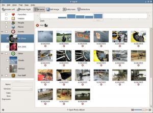 F-Spot è un'alternativa open source a Picasa di Google.