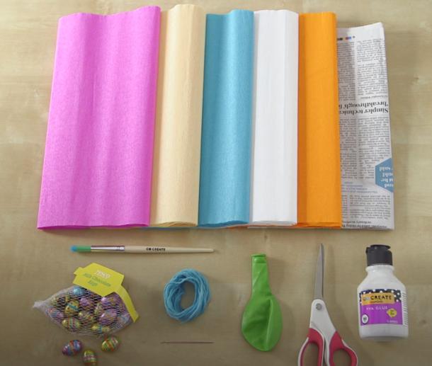 occorrente per realizzare una pignatta in cartapesta