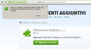 Installare il dizionario italiano su Firefox