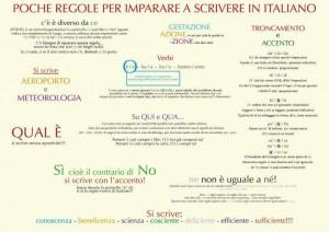 Le regole dell'italiano da non dimenticare