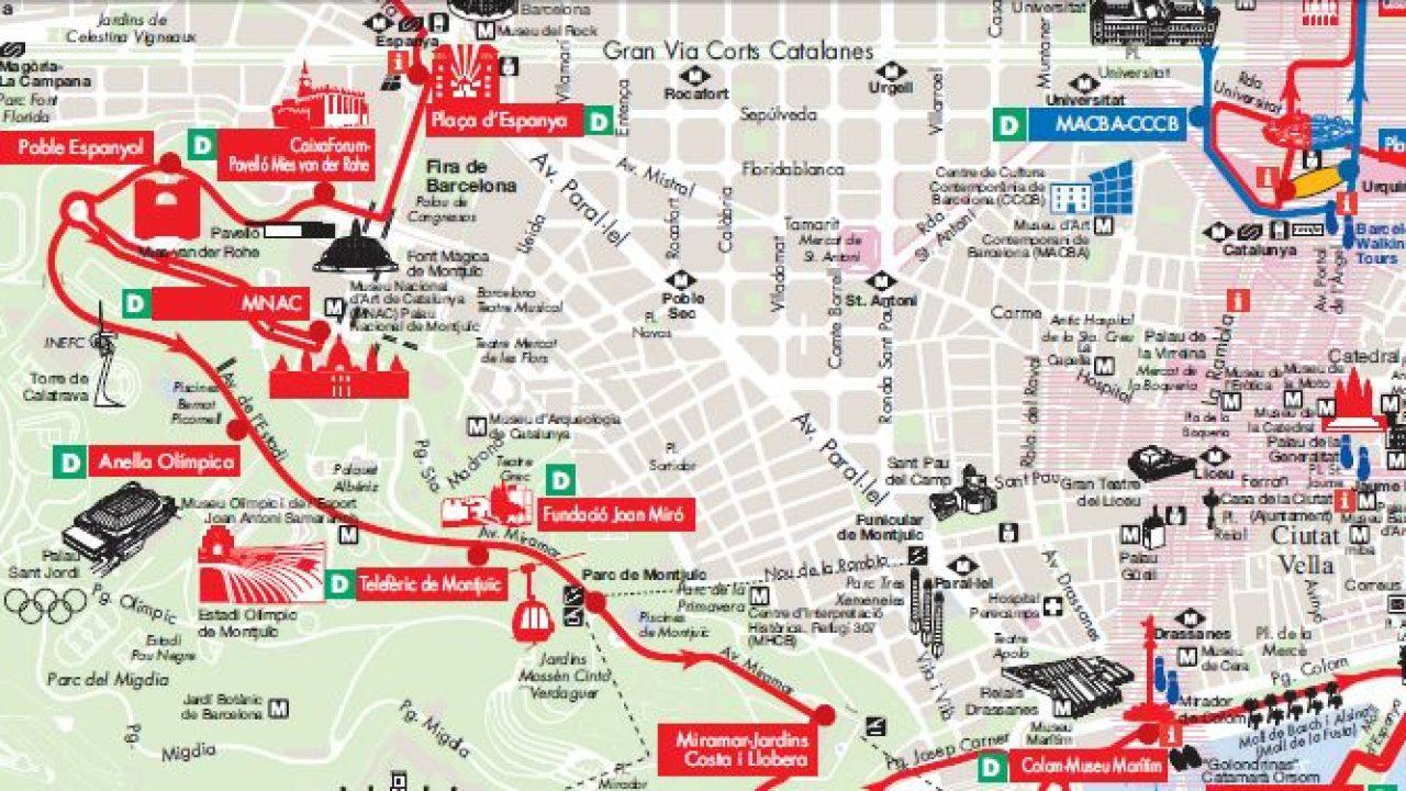 Cartina Barcellona Dettagliata.Barcellona La Mappa In Pdf Di Citta E Metro