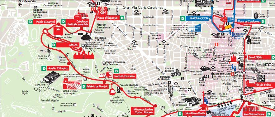 Cartina Quartieri Barcellona.Barcellona La Mappa In Pdf Di Citta E Metro