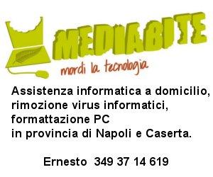 Mediabite: assistenza informatica, rimozione virus e formattazione PC a domicilio, in provincia di Napoli e Caserta.