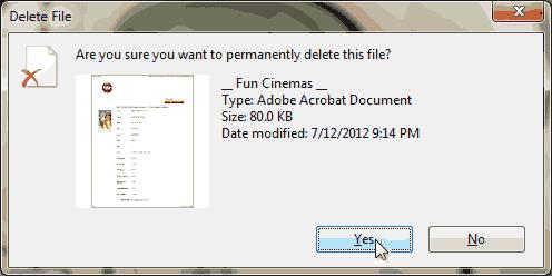 esempio di posizionamento automatico del cursore del mouse sull'opzione di default