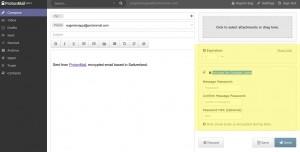 L'opzione che permette di inviare email criptate anche ad utenti esterni il servizio CriptonMail