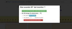 richiesta dimensioni monitor