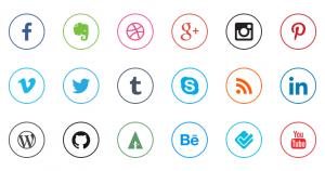 set-raccolta-icone-social