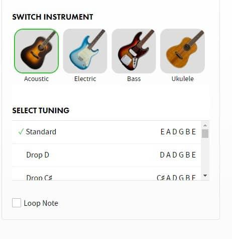 accordatore fender: selezione dello strumento e tipi di accordatura