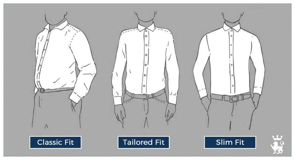 tipi di vestibilità di una camicia