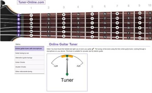 La schermata principale di Tuner-online.com