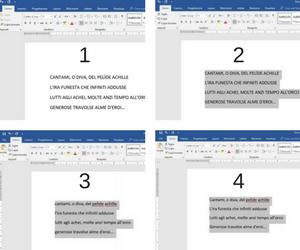 step passo passo conversione case del testo in word